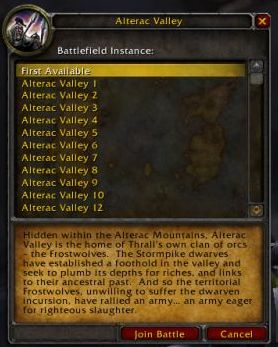 An Early Look at the Alterac Valley Battleground